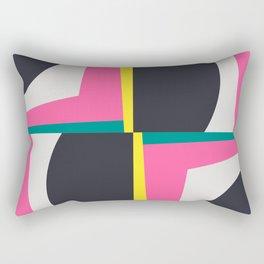 Modern Geometric 65 Pink Rectangular Pillow