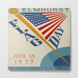 Vintage poster - Flag Day Metal Print