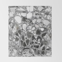 Silver Mirrored Mosaic Throw Blanket