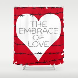 The embrace of love Shower Curtain