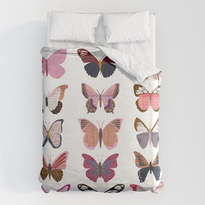 Pink Butterflies Bettbezug