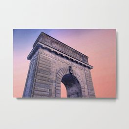 Memorial Arch under the Sunset Metal Print