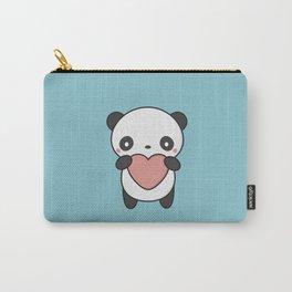Kawaii Cute Panda With A Heart Carry-All Pouch