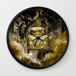 galaxy vintage voyager world map design 3 Wall Clock