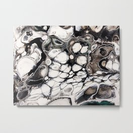 Sensations in Black and White with Brown and a bit of Green Metal Print