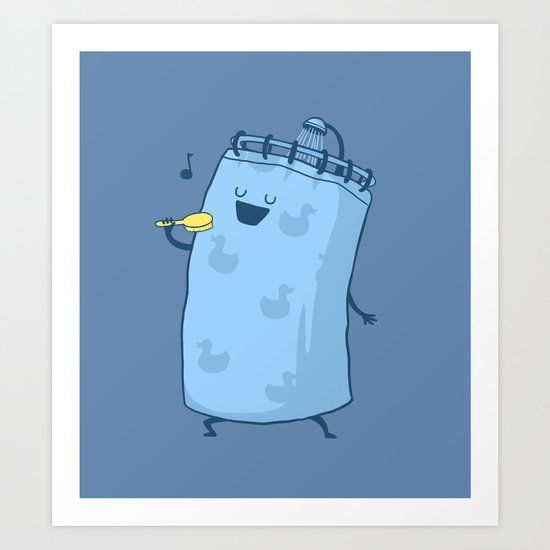 Singing In The Shower? Art Print