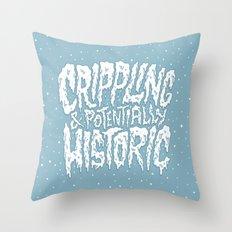 Crippling & Potentially Historic Throw Pillow