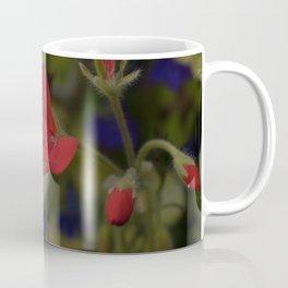 Blue and Pink Wildflower Coffee Mug