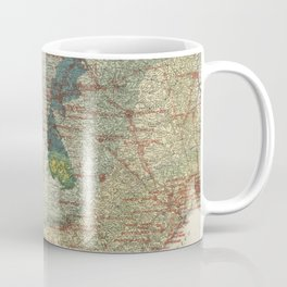 Vintage Map of The Texas Oil and Gas Fields (1920) Coffee Mug