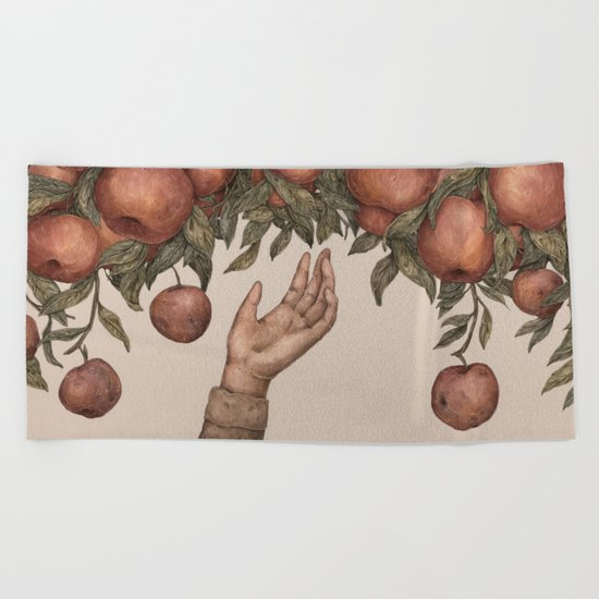 Apple Picking Beach Towel