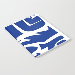 Blue shapes on white background Notebook