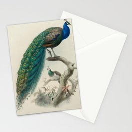 Vintage Print - A Monograph of the Phasianidae, the Pheasants (1872) - Indian Peacock Stationery Cards