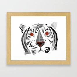 Moirè Tiger Framed Art Print