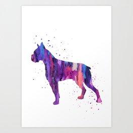 Boxer, boxer dog, Art Print