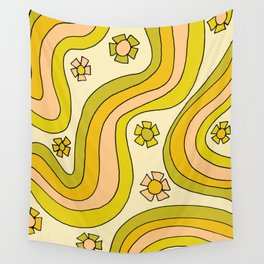 groovy rainbow flower power wallpaper vibes Wall Tapestry