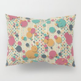 """Retro Confetti Polka Dots"" Pillow Sham"
