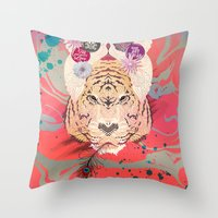 psychedelic Throw Pillows featuring Psychedelic by Pepe Psyche