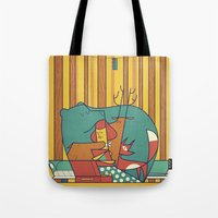 music Tote Bags featuring MUSIC by Ale Giorgini