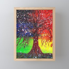 Magic Dew Drop Tree Framed Mini Art Print