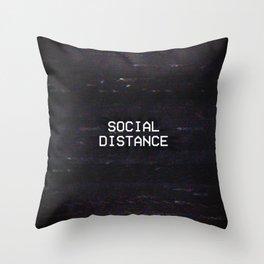 SOCIAL DISTANCE Throw Pillow