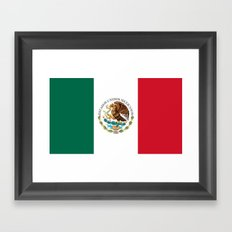 Flag of Mexico - alt version with seal insert Framed Art Print