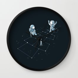 Hopscotch Astronauts Wall Clock
