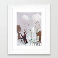 farm Framed Art Prints featuring Farm by Kirsten zuiderbaan