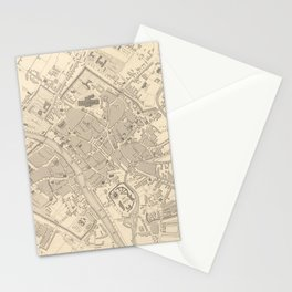 Vintage Map of York England (1851) Stationery Cards