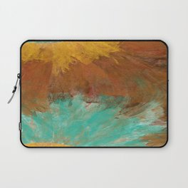 Copper, Gold, and Turquoise Design Laptop Sleeve