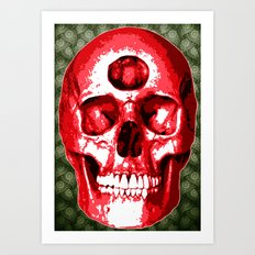 Third Eye Bones (Paisley Edition) Art Print
