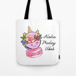 Aloha Friday Unicorn Macaron Tote Bag