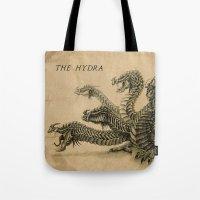 hydra Tote Bags featuring The Hydra by Miranda Leek