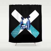 holiday Shower Curtains featuring Holiday by Laura O'Connor