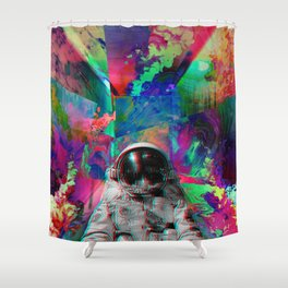 Tripping Space Man Shower Curtain
