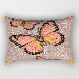 CORAL COLORED MONARCH BUTTERFLIES FANTASY ART Rectangular Pillow