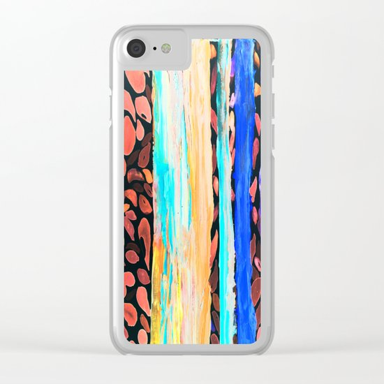 Rainbow Eucalyptus Graffiti artist tree Tries to get ready for the Fall Autumn Clear iPhone Case