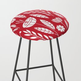 Blooming field - red Bar Stool