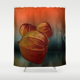 Physalis fire -2- Shower Curtain