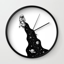 Universe is Knit Wall Clock