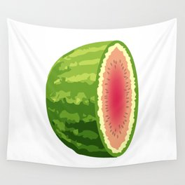 Water Melon Cut In Half Wall Tapestry