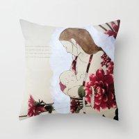 bond Throw Pillows featuring Bond by Suzanna Schlemm
