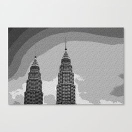 Architectural Design Twin Towers Canvas Print