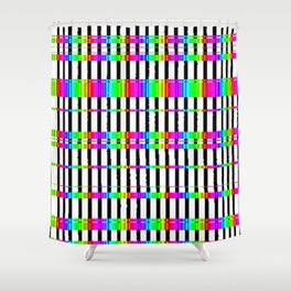 fm abstract Shower Curtain
