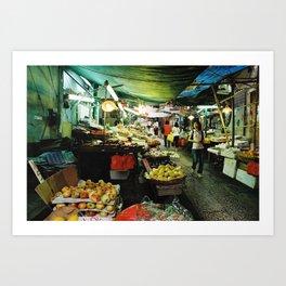 Hong Kong Street Market Art Print