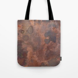 Tarnished, Stained and Scratched Copper Metal Texture Industrial Art Tote Bag