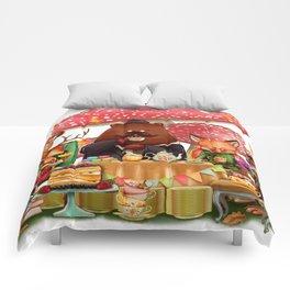 Autumn tea party #3 Comforters