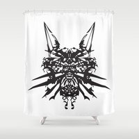 insects Shower Curtains featuring Poisonous İnsects by kartalpaf