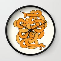 dachshund Wall Clocks featuring Dachshund. by Tim Howman