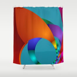 dreams of color -22- Shower Curtain