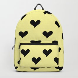 Retro Hearts Pattern Pastel Yellow Backpack